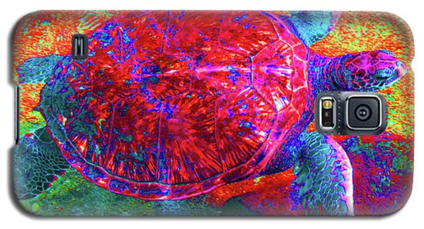 The Great Sea Turtle In Abstract Galaxy S5 Case