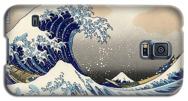 Galaxy S5 Case featuring the photograph The Great Wave Off Kanagawa by Katsushika Hokusai