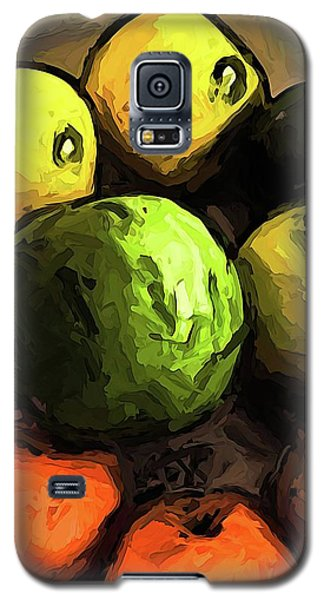 The Green And Gold Apples With The Orange Mandarins Galaxy S5 Case