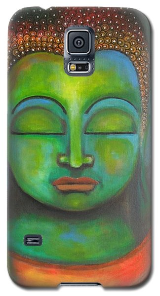 Galaxy S5 Case featuring the painting The Green Buddha by Prerna Poojara