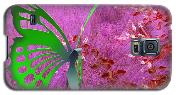 Galaxy S5 Case featuring the photograph The Green Butterfly by Rosalie Scanlon