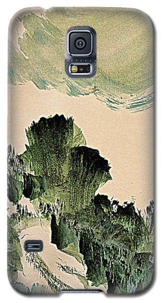 The Green Cliffs With A Cloud Galaxy S5 Case