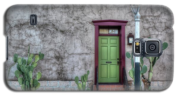 Galaxy S5 Case featuring the photograph The Green Door by Lynn Geoffroy