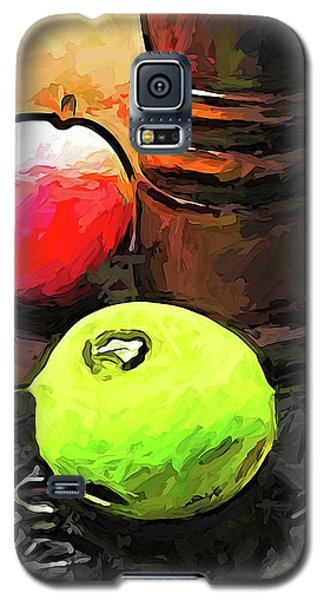 The Green Lime And The Apple With The Pepper Mill Galaxy S5 Case