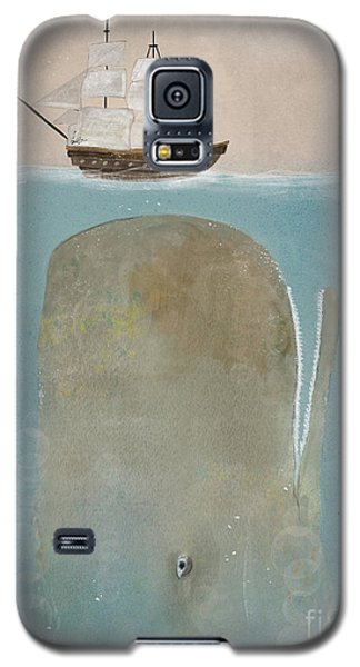 Galaxy S5 Case featuring the painting The Grey Whale by Bri B