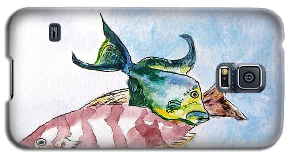 Galaxy S5 Case featuring the painting The Grouper And Friend by Gary Smith