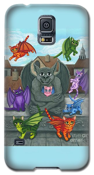 The Guardian Gargoyle Aka The Kitten Sitter Galaxy S5 Case by Carrie Hawks