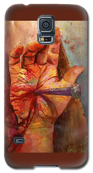 Galaxy S5 Case featuring the painting The Hand Of God by Andrew King