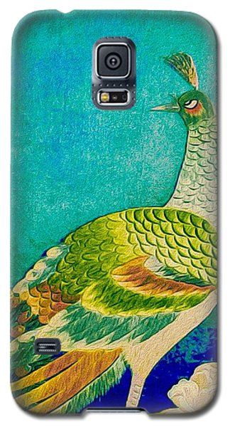 The Handsome Peacock - Kimono Series Galaxy S5 Case by Susan Maxwell Schmidt