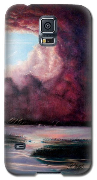 Galaxy S5 Case featuring the painting The Hansbach by Albert Puskaric