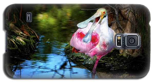 The Happy Spoonbill Galaxy S5 Case by Mark Andrew Thomas