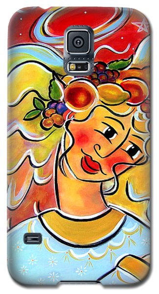Galaxy S5 Case featuring the painting The Harvest Angel by Jan Oliver-Schultz