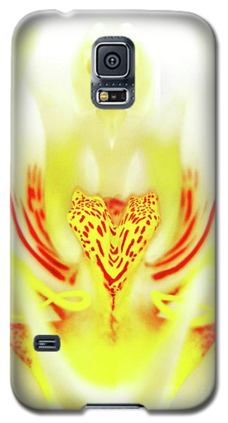 Galaxy S5 Case featuring the photograph The Heart Of An Alien-orchid by Jennie Breeze