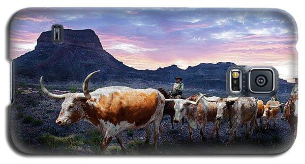 Texas Longhorns Blue Galaxy S5 Case