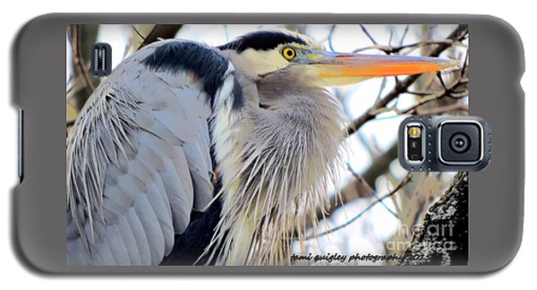 The Heron In Winter  Galaxy S5 Case