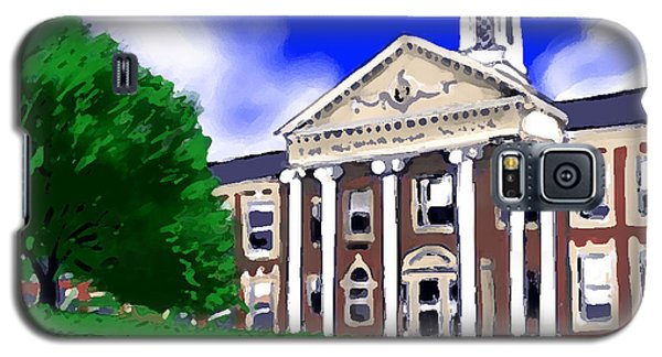 Galaxy S5 Case featuring the painting The Hill by Jean Pacheco Ravinski