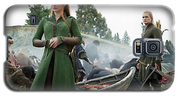 Orlando Bloom Galaxy S5 Case - The Hobbit The Battle Of The Five Armies Evangeline Lilly Orlando Bloom by Naveen Sharma