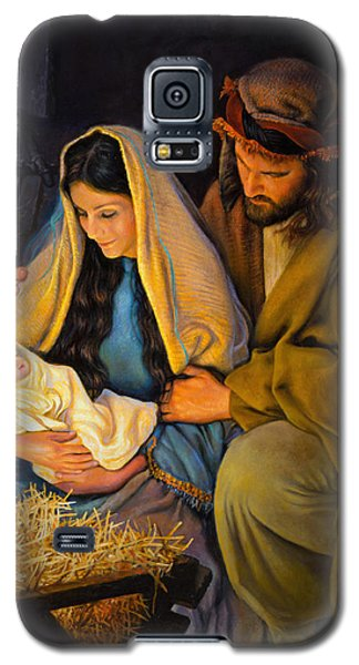 Galaxy S5 Case featuring the painting The Holy Family by Greg Olsen