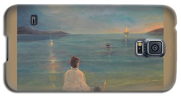 Galaxy S5 Case featuring the painting The Homecoming by Donna Tucker