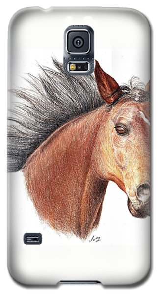 Galaxy S5 Case featuring the drawing The Horse by Mike Ivey