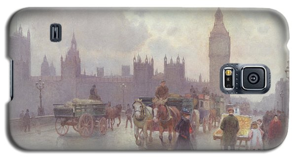The Houses Of Parliament From Westminster Bridge Galaxy S5 Case by Alberto Pisa