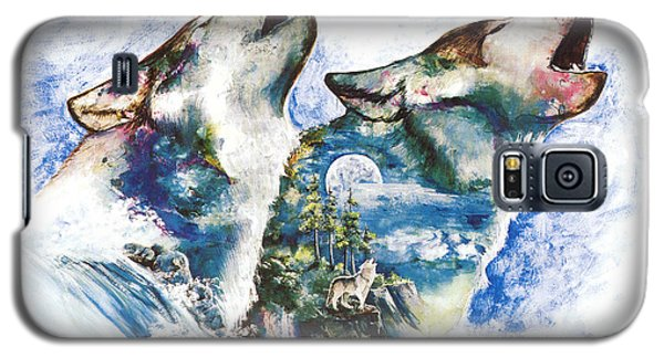 Galaxy S5 Case featuring the painting The Howl by Sherry Shipley