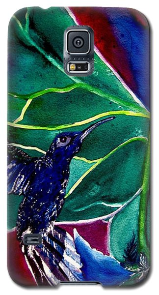The Hummingbird And The Trillium Galaxy S5 Case by Lil Taylor