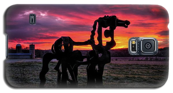 The Iron Horse Sun Up Art Galaxy S5 Case