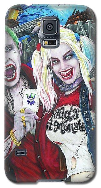 Ben Affleck Galaxy S5 Case - The Joker And Harley Quinn by Michael Vanderhoof