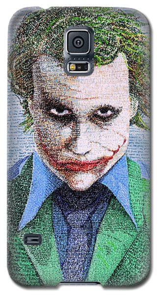 Heath Ledger Galaxy S5 Case - The Joker In His Own Words by Phil Vance