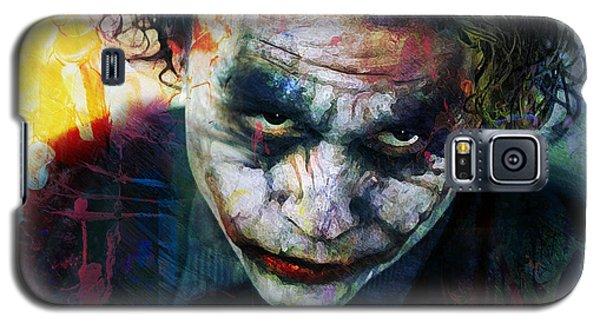 Heath Ledger Galaxy S5 Case - The Joker by Mal Bray