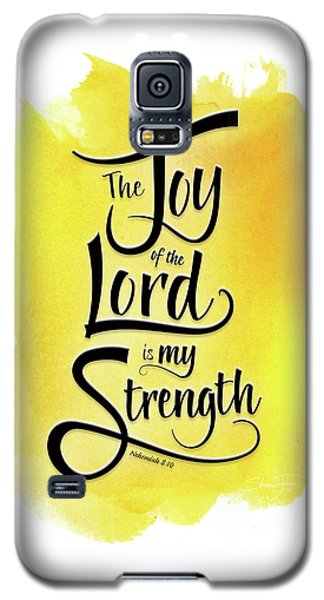 The Joy Of The Lord - Yellow Galaxy S5 Case
