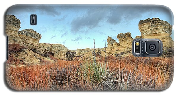 Galaxy S5 Case featuring the photograph The Kansas Badlands by JC Findley