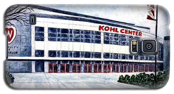 Galaxy S5 Case featuring the painting The Kohl Center by Thomas Kuchenbecker