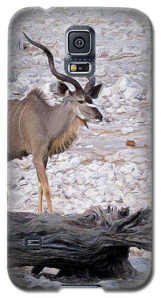 The Kudu In Namibia Galaxy S5 Case by Ernie Echols
