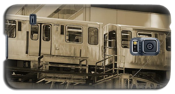 The L Downtown Chicago In Sepia Galaxy S5 Case