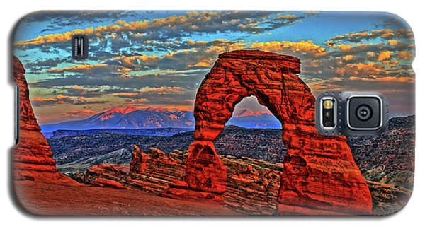 Galaxy S5 Case featuring the photograph The La Sal Mountains And Arch by Scott Mahon