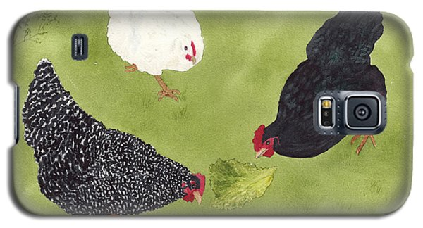 The Ladies Love Salad Three Hens With Lettuce Galaxy S5 Case