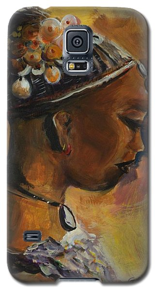 Galaxy S5 Case featuring the painting The Lady by Bernadette Krupa