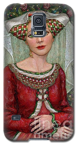 Galaxy S5 Case featuring the painting The Lady Mae   Bas Relief Miniature by Jane Bucci