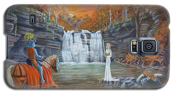 Galaxy S5 Case featuring the painting The Lady Of The Lake by Anthony Lyon