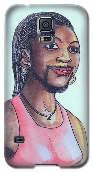 The Lady With A Beard Galaxy S5 Case by Emmanuel Baliyanga
