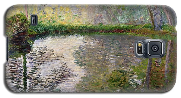 Impressionism Galaxy S5 Case - The Lake At Montgeron by Claude Monet