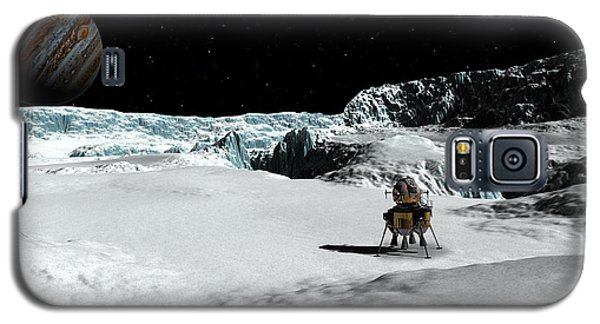 Galaxy S5 Case featuring the digital art The Lander Ulysses On Europa by David Robinson