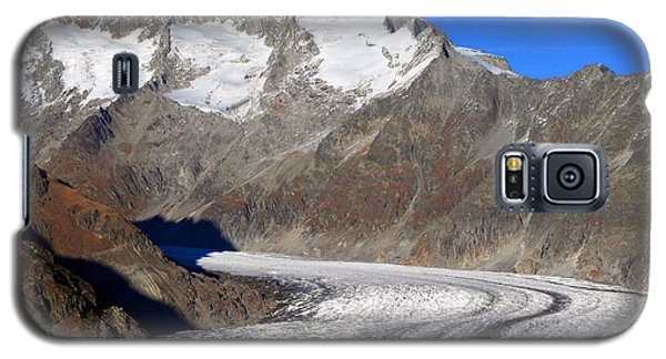 The Large Aletsch Glacier In Switzerland Galaxy S5 Case by Ernst Dittmar