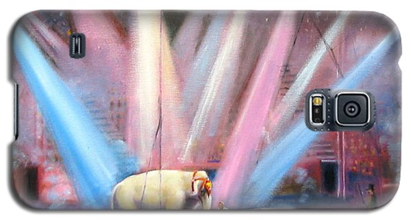 Galaxy S5 Case featuring the painting The Last Circus Elephant by Oz Freedgood
