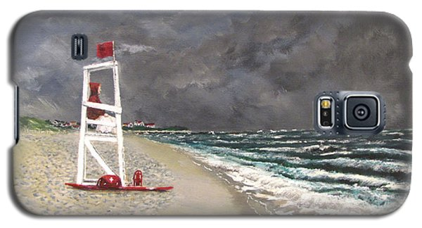 Galaxy S5 Case featuring the painting The Last Lifeguard by Jack Skinner