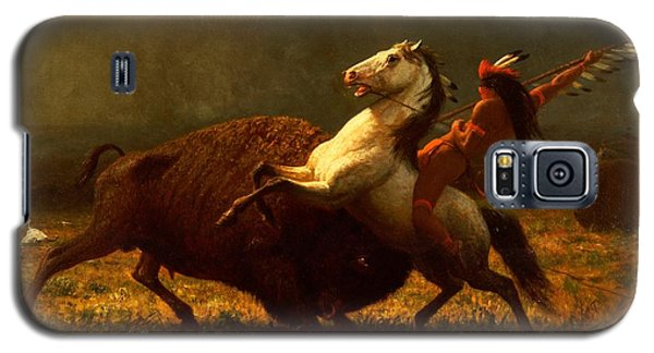 Bison Galaxy S5 Case - The Last Of The Buffalo by Albert Bierstadt