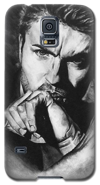 Galaxy S5 Case featuring the painting The Late Great George Michaels by Darryl Matthews