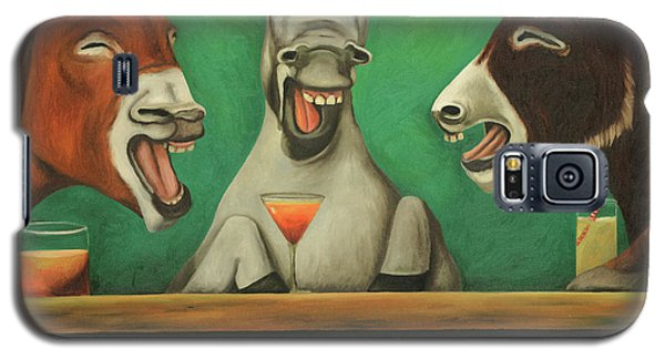 Galaxy S5 Case featuring the painting The Laughing Donkeys by Leah Saulnier The Painting Maniac